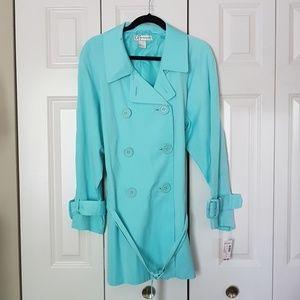 NWT Blue Trenchcoat